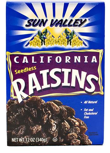 California Seedless Raisins NETWT 12OZ (340g)