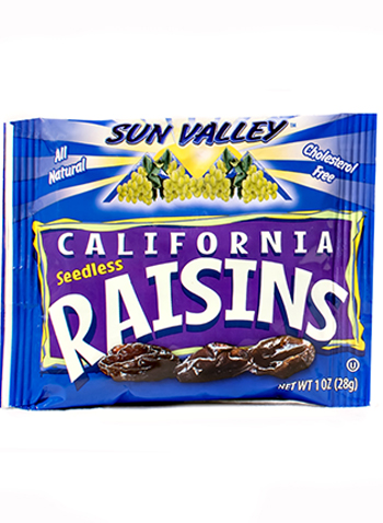 California Seedless Raisins </br> 1oz pouch