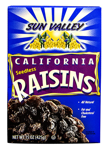 California Seedless Raisins NETWT 15OZ (425g)